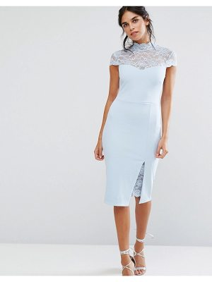 City Goddess Pencil Dress With Lace Yoke