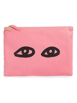 Clare V. eyes leather clutch
