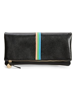Clare V. foldover leather clutch