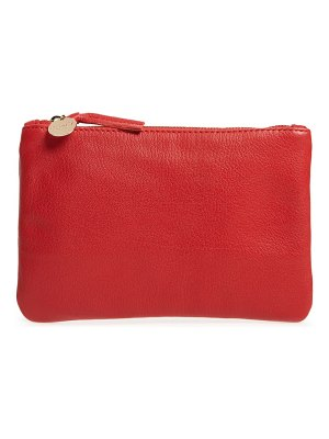 Clare V. goatskin leather zip clutch