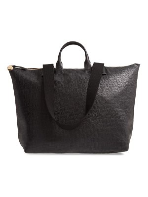 Clare V. le zip sac embossed leather tote