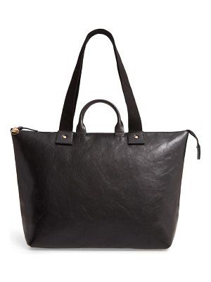 Clare V. le zip sac leather tote