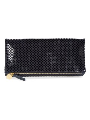 Clare V. leather foldover clutch