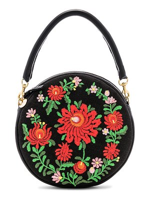 Clare V. Mexican Embroidered Circle Bag