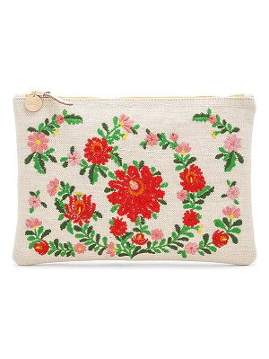 Clare V. Mexican Embroidered Flat Clutch