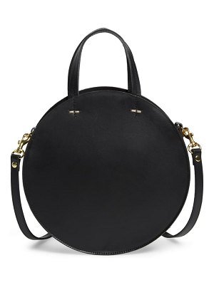 Clare V. petit alistair leather circular crossbody bag