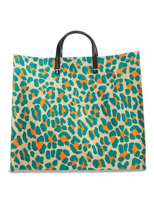 Clare V. simple animal spot suede tote