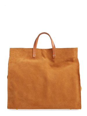 Clare V. simple suede tote