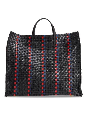 Clare V. simple woven leather tote