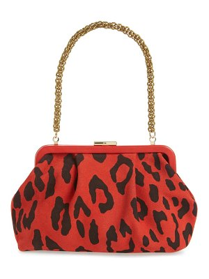 Clare V. sissy leopard print leather bag