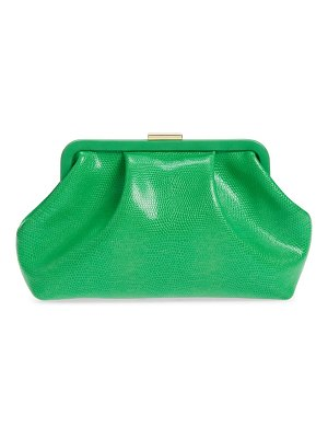 Clare V. sissy reptile embossed leather clutch