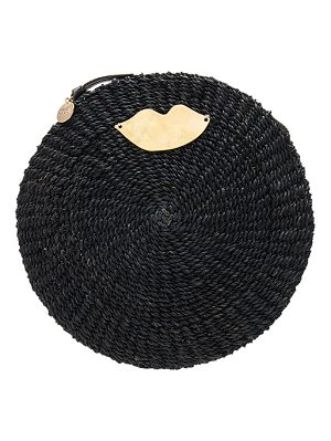 Clare V. Woven Circle Clutch