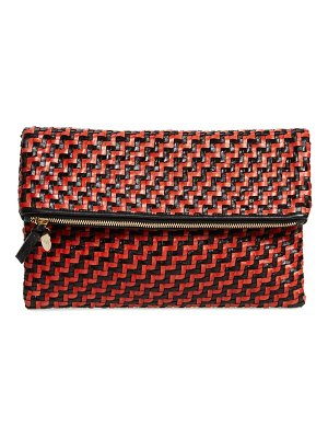 Clare V. zip leather clutch