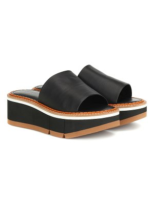 CLERGERIE affect platform leather sandals