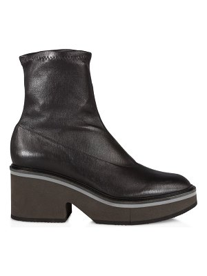 CLERGERIE albane leather platform boots
