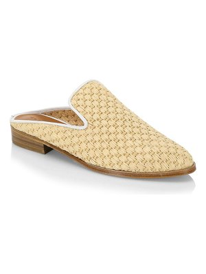 CLERGERIE Aliceop Raffia Leather Slides