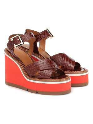 CLERGERIE Alive leather wedge sandals