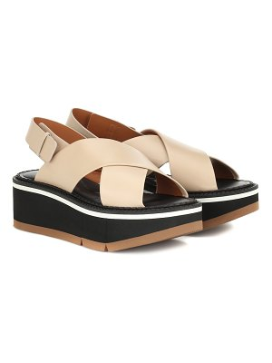 CLERGERIE anae platform leather sandals