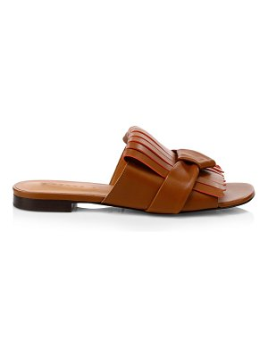 CLERGERIE angela knotted leather slides