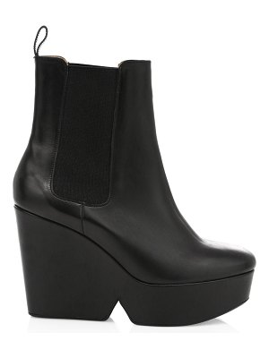 CLERGERIE beatrice 2 leather wedge boots