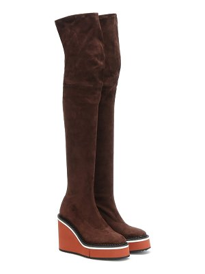 CLERGERIE belize suede over-the-knee boots