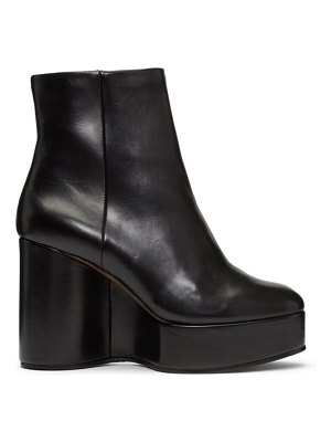 CLERGERIE black belen wedge ankle boots