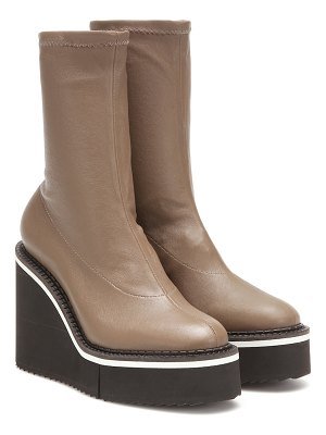 CLERGERIE bliss leather platform ankle boots