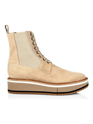 CLERGERIE brendy suede lace-up chelsea boots