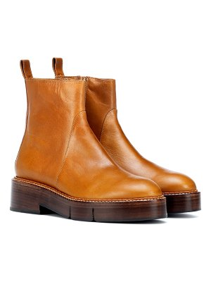 CLERGERIE Callie leather ankle boots