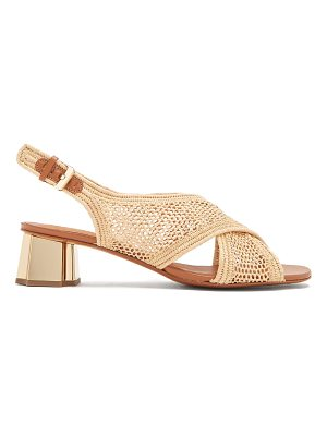 CLERGERIE Cross-strap raffia sandals