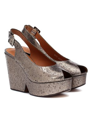 CLERGERIE dylan leather peeptoe wedge pumps
