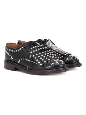 CLERGERIE Embellished leather brogues