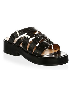 CLERGERIE fantom leather wedge slides