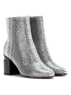 CLERGERIE Keyla embossed leather ankle boots