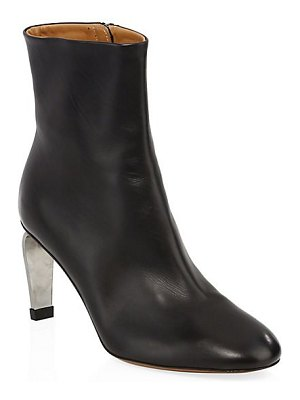 CLERGERIE leather curve heel ankle boots