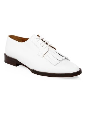 CLERGERIE leather lace-up loafers