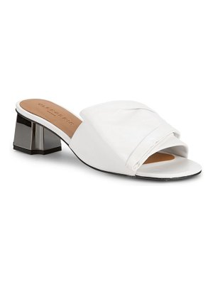 CLERGERIE Lendy Rouched Leather Slides