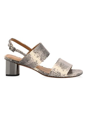 CLERGERIE leonieco snakeskin-embossed leather slingback sandals