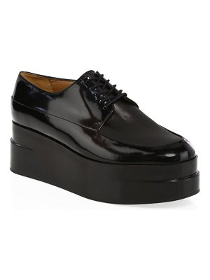 CLERGERIE lucie platform patent leather loafers
