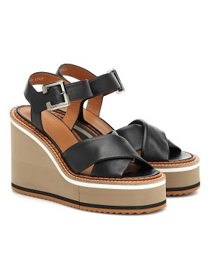 CLERGERIE noemie leather wedge sandals