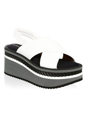 CLERGERIE omin leather platform slides