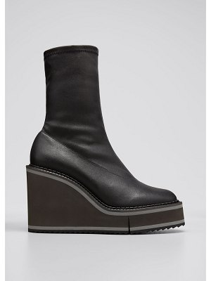 CLERGERIE PARIS Bliss 45mm Leather Stretch Booties