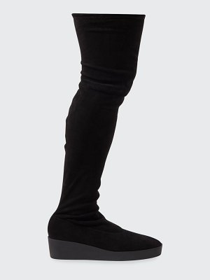 CLERGERIE PARIS Glove Suede Over-the-Knee Wedge Boots