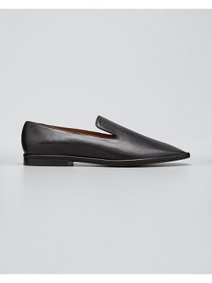 CLERGERIE PARIS Olympia Leather Smoking Loafers