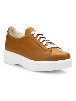 CLERGERIE Pasketv Leather Platform Sneakers