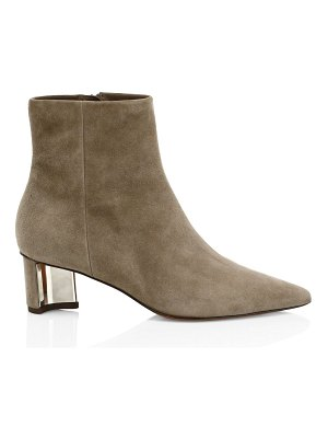 CLERGERIE secret suede point toe booties
