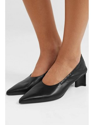 CLERGERIE solal leather collapsible-heel pumps