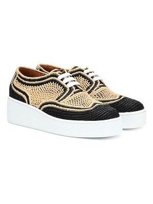 CLERGERIE Taille raffia platform sneakers