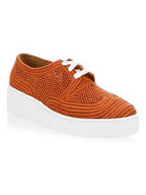 CLERGERIE Taille Rafia Denim Low-Top Sneakers