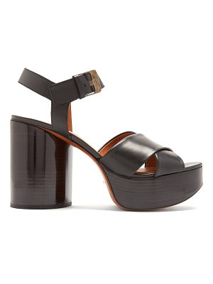 CLERGERIE Viannel cross-strap leather platform sandals